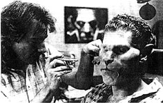 Rick Baker applying Vincent's makeup